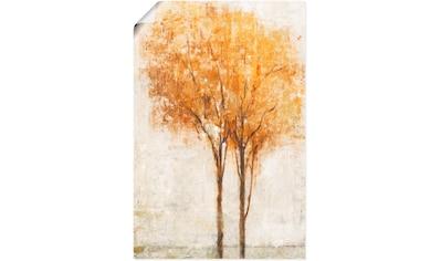 Artland Wandbild »Fallende Blätter II«, Bäume, (1 St.), in vielen Größen &... kaufen