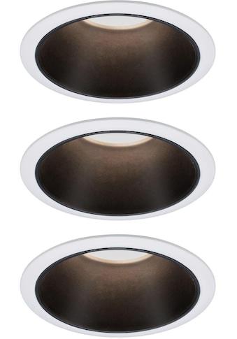 Paulmann,LED Einbauleuchte»Set Cole 3x6,5W Weiß/Schwarz matt 3 - Stufen - dimmbar 2700K Warmweiß«, kaufen