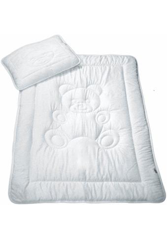 Kinderbettdecke + Kopfkissen, »Bär«, MESANA, (Spar - Set) kaufen