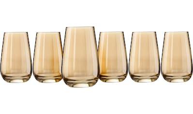 my home Longdrinkglas »Naila«, (Set, 6 tlg.), mit hochwertiger goldfarbener Optik, 350... kaufen