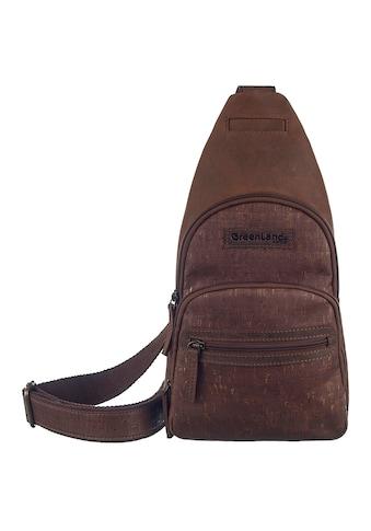 GreenLand Nature Cityrucksack »NATURE Leather-Cork«, Rechtsseitig oder linksseitig tragbar kaufen