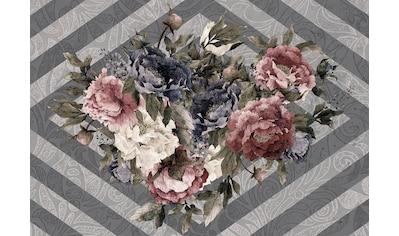 Consalnet Vliestapete »Blumenstrauß/Streifen«, floral kaufen