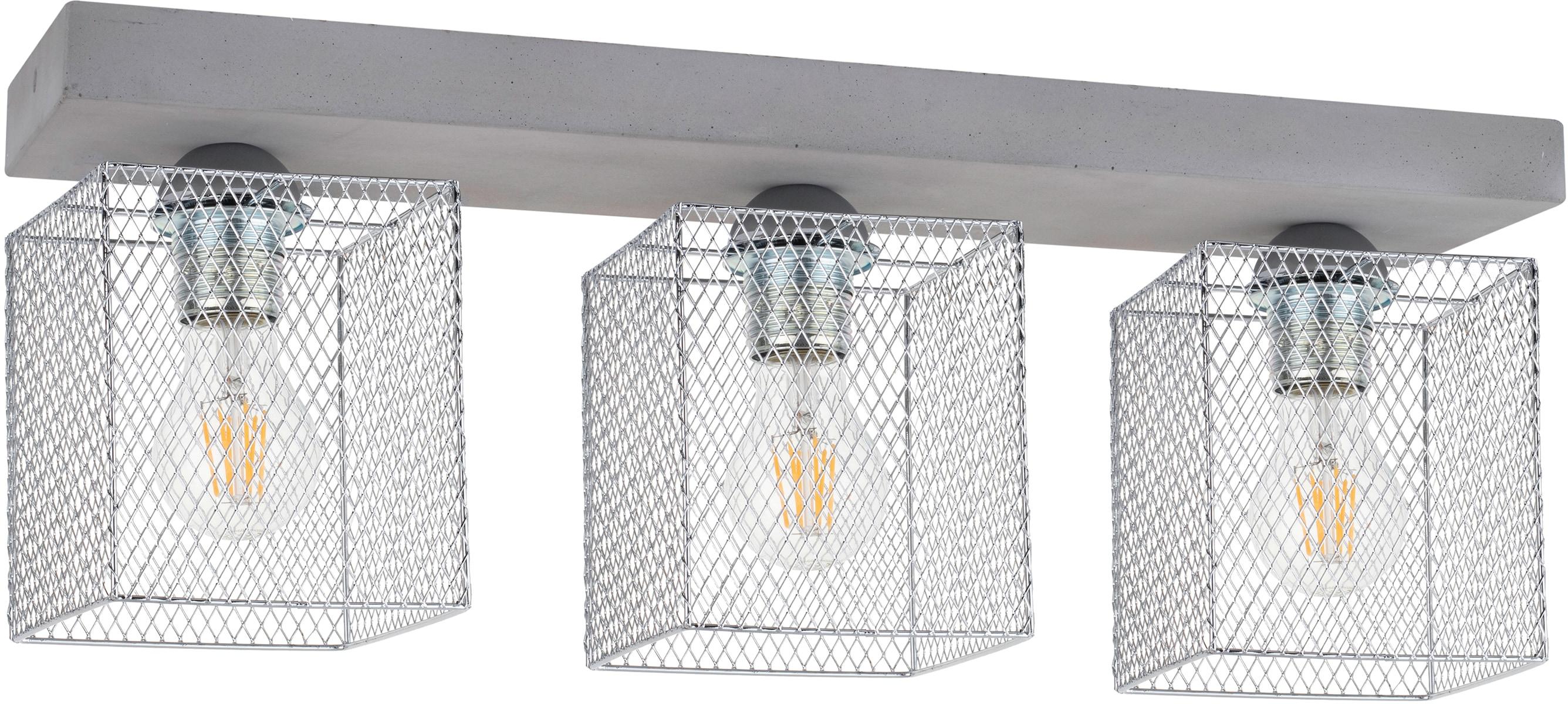 SPOT Light Deckenleuchte GITTAN, E27, 1 St., Echtes Beton, Naturprodukt - Nachhaltig, Made in EU, Handgemacht, Loft style