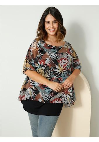 Sara Lindholm 2-in-1-Shirt, mit bequemem U-Boot-Ausschnitt kaufen