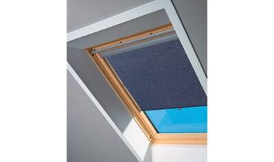VELUX Sichtschutzrollo , für PK06/ - 08/ - 10, P06/ - 08/ - 10, 406, 408, 410, 419, blau kaufen