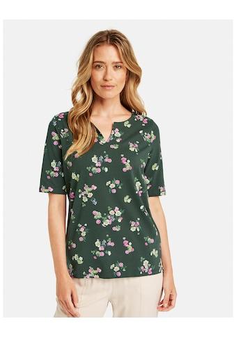 GERRY WEBER Kurzarmshirt »Tunikashirt mit Blumenmuster« kaufen