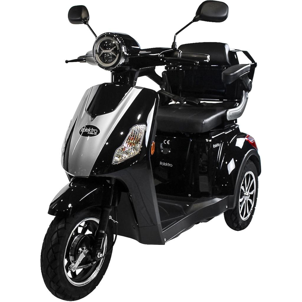 Rolektro Elektromobil »Rolektro E-Trike 25 V.2«, 1000 W, 25 km/h, (mit Topcase)