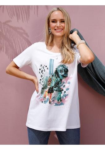 MIAMODA Print-Shirt, mit platziertem Druck kaufen
