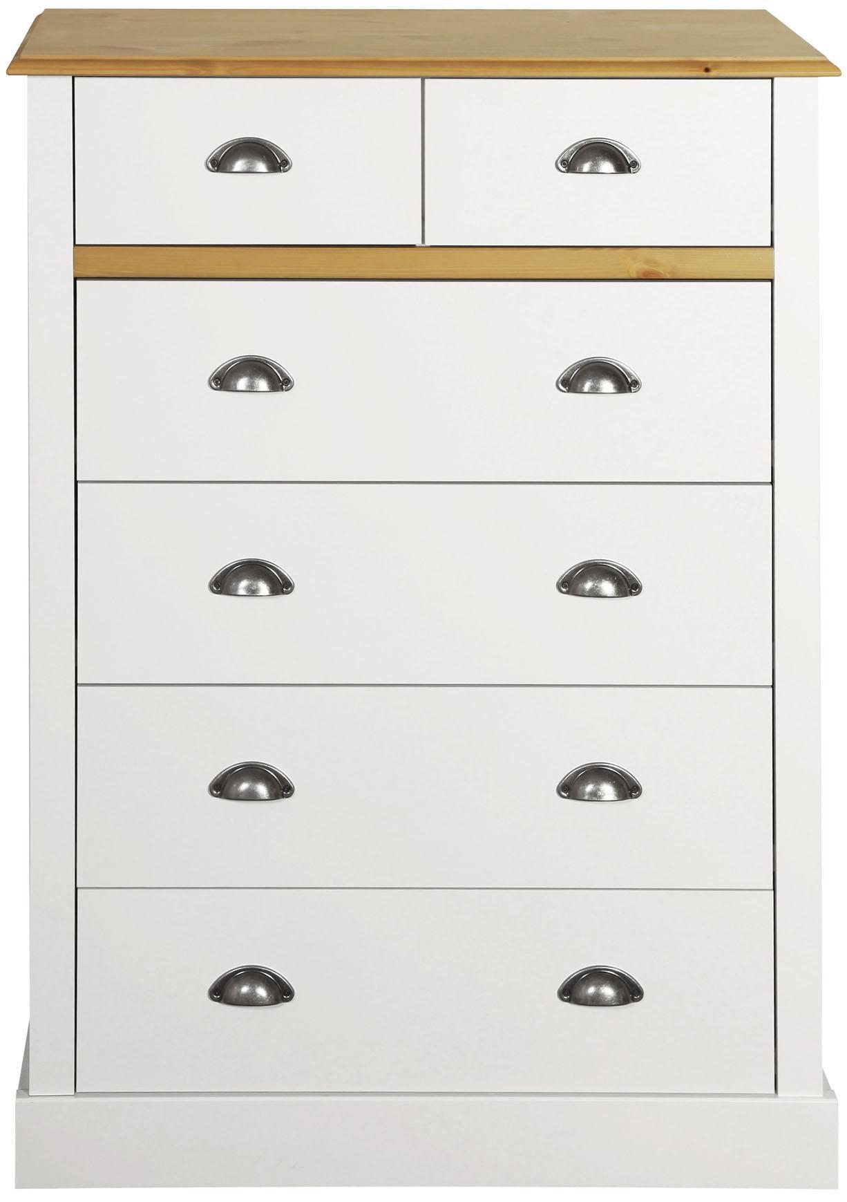 Home affaire Kommode Sandringham mit 6 Schubladen Breite 78 cm