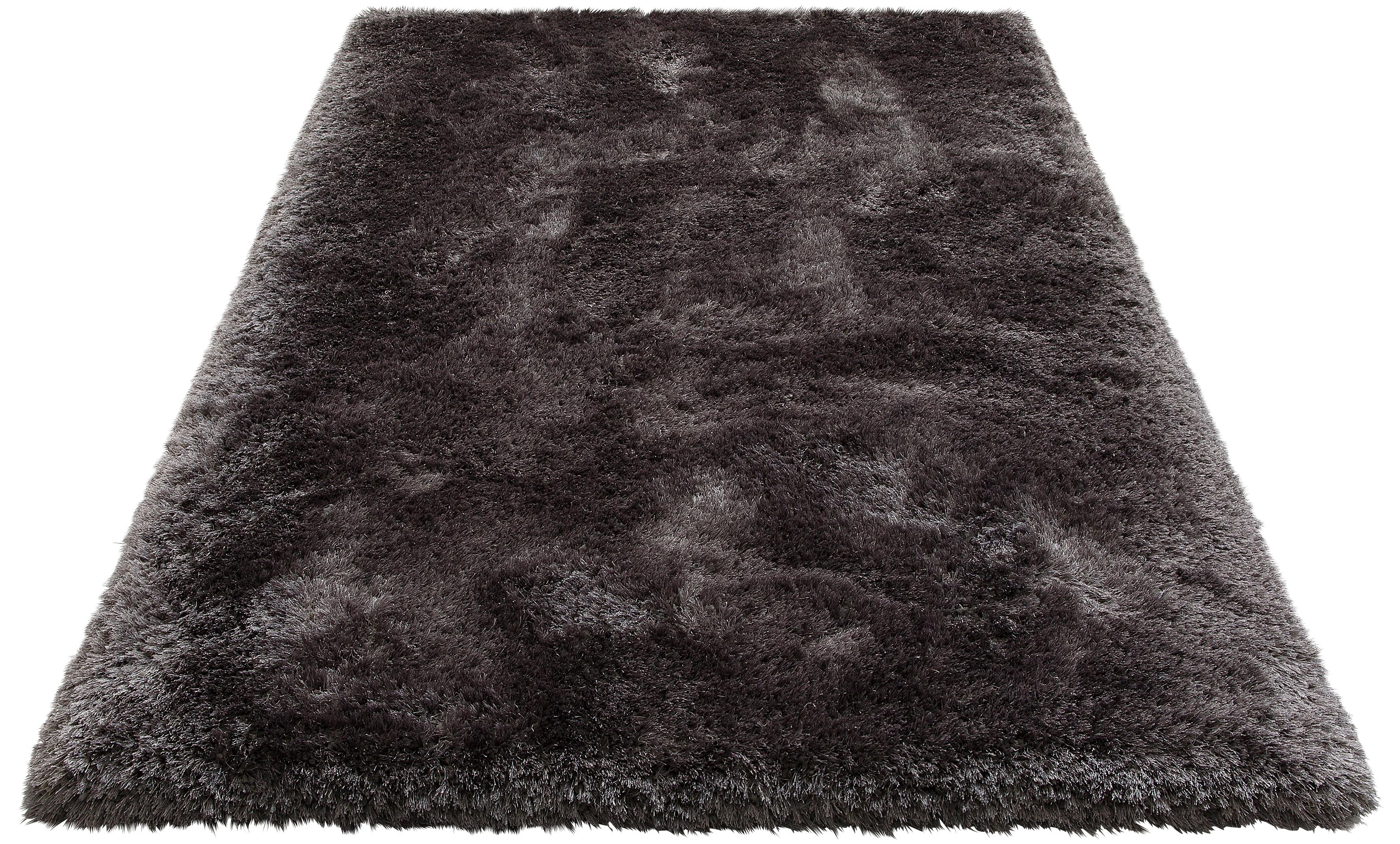Hochflor-Teppich Lasse Leonique rechteckig Höhe 78 mm handgetuftet