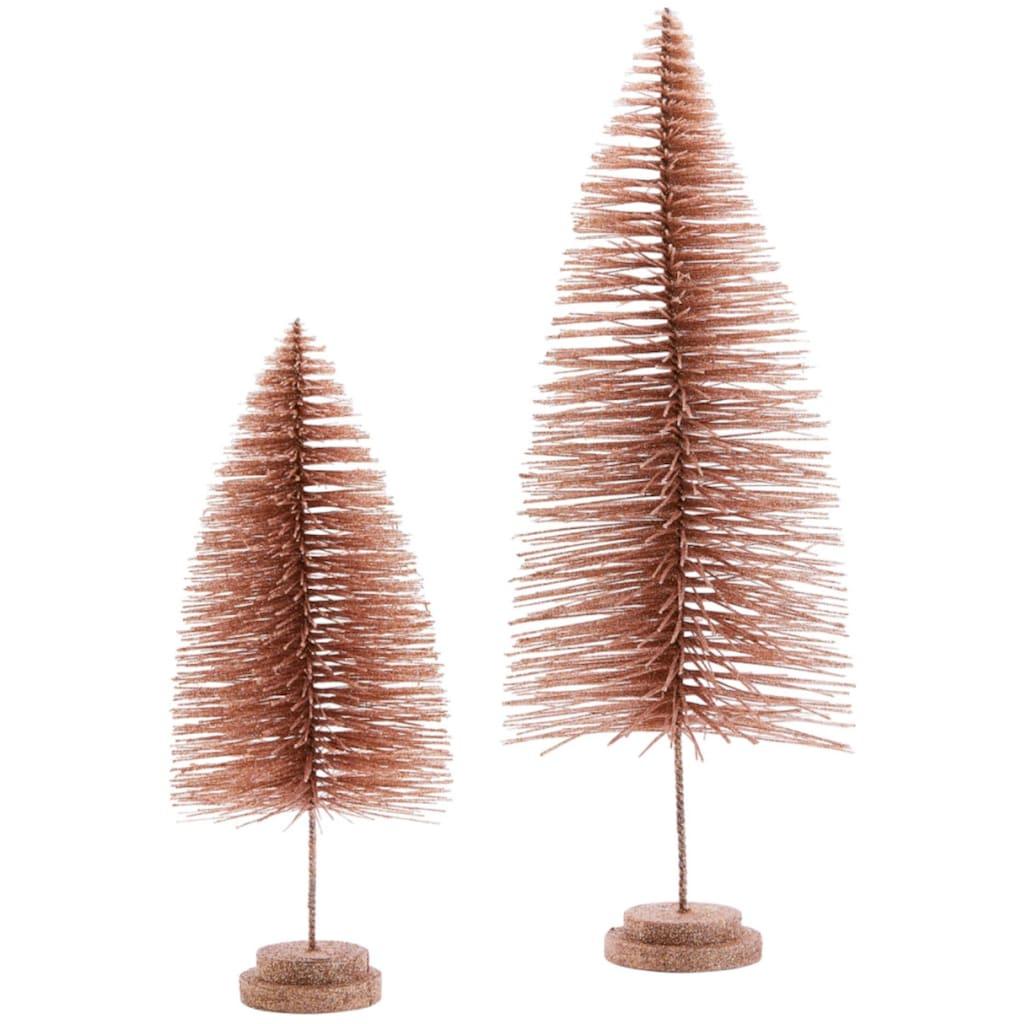 Dekobaum »Tannen-Set«, mit Glitzer, Höhe 40 cm + 60 cm