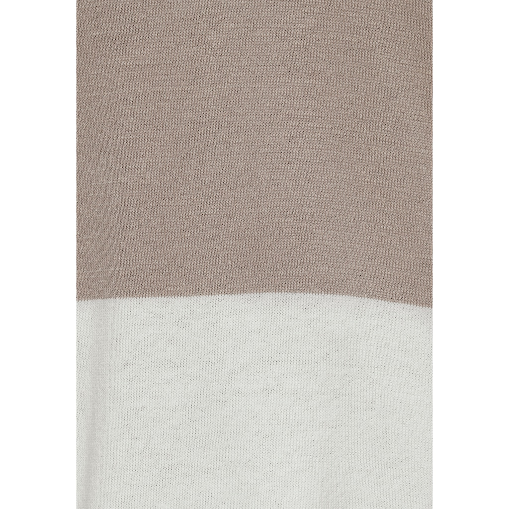 Boysen's Longpullover, mit color blocking