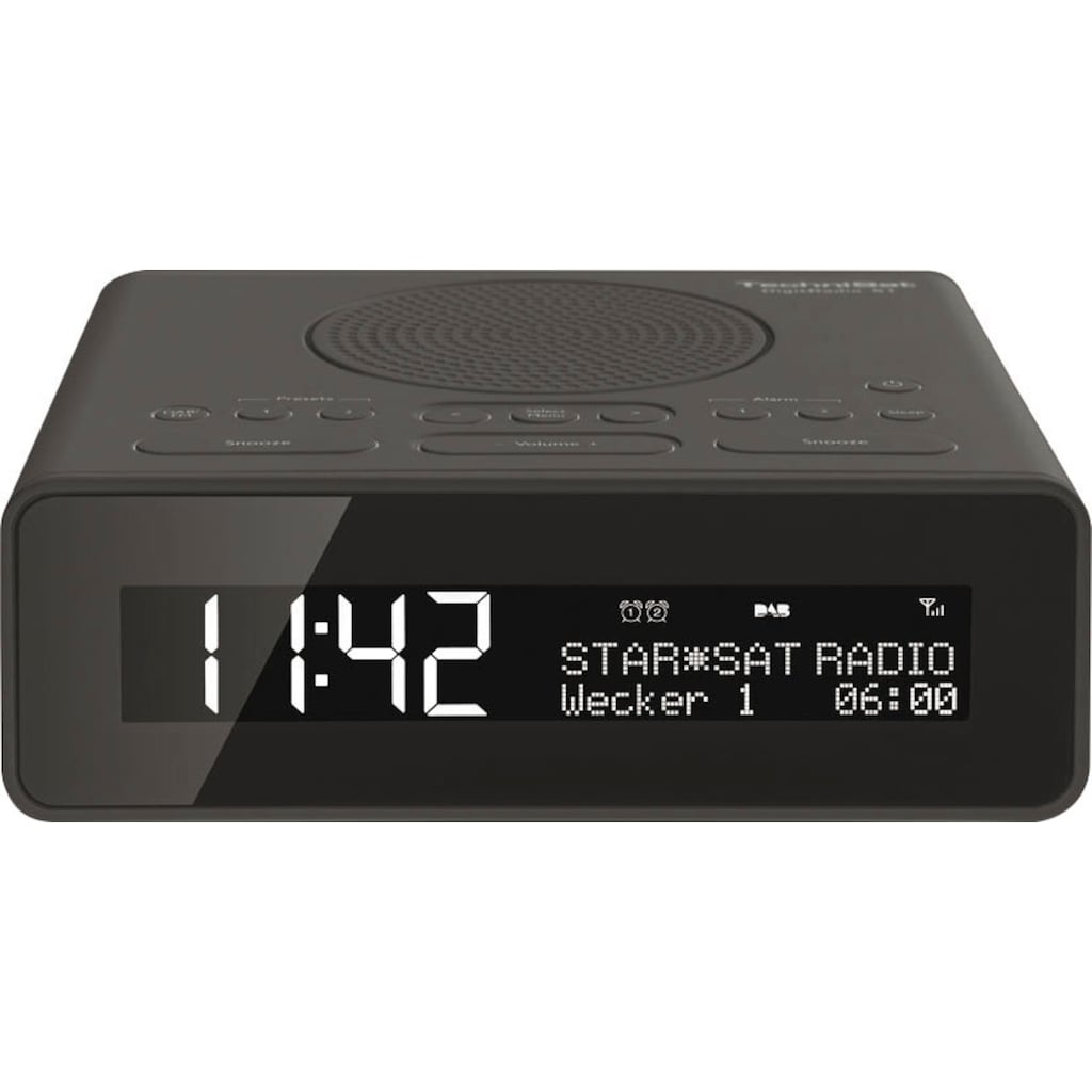 TechniSat Radiowecker »DIGITRADIO 51«, ( UKW mit RDS-Digitalradio (DAB+) ), mit DAB+, Snooze-Funktion, dimmbares Display, Sleeptimer