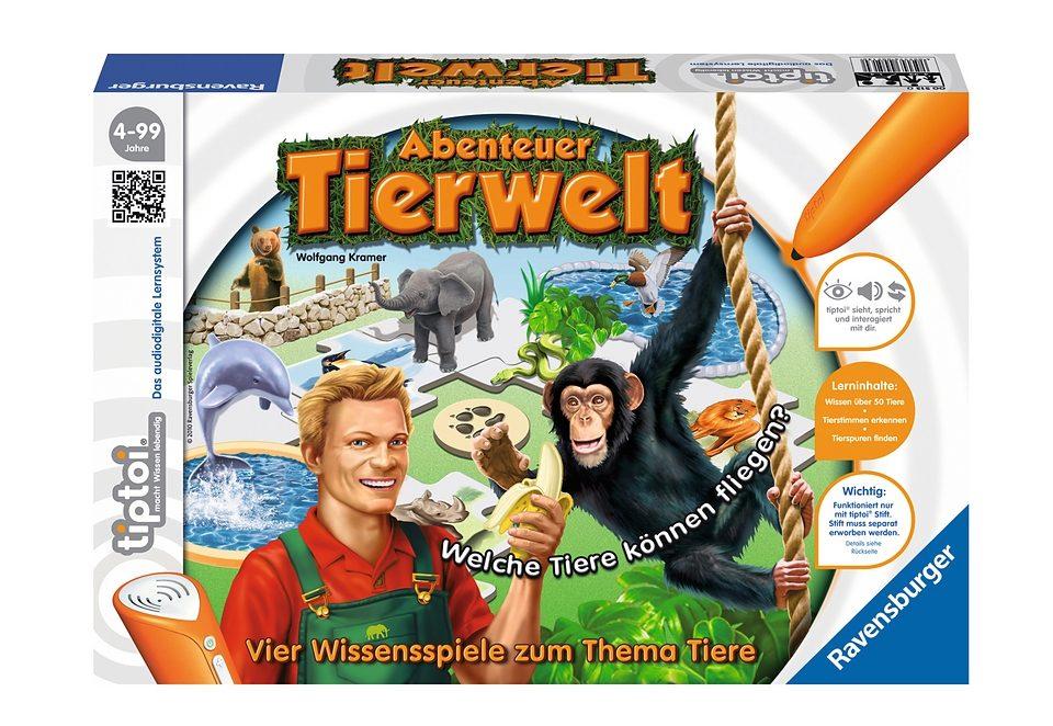 Ravensburger Spiel, tiptoi Abenteuer Tierwelt bunt Kinder Tiptoi Lernspielzeug Spiele