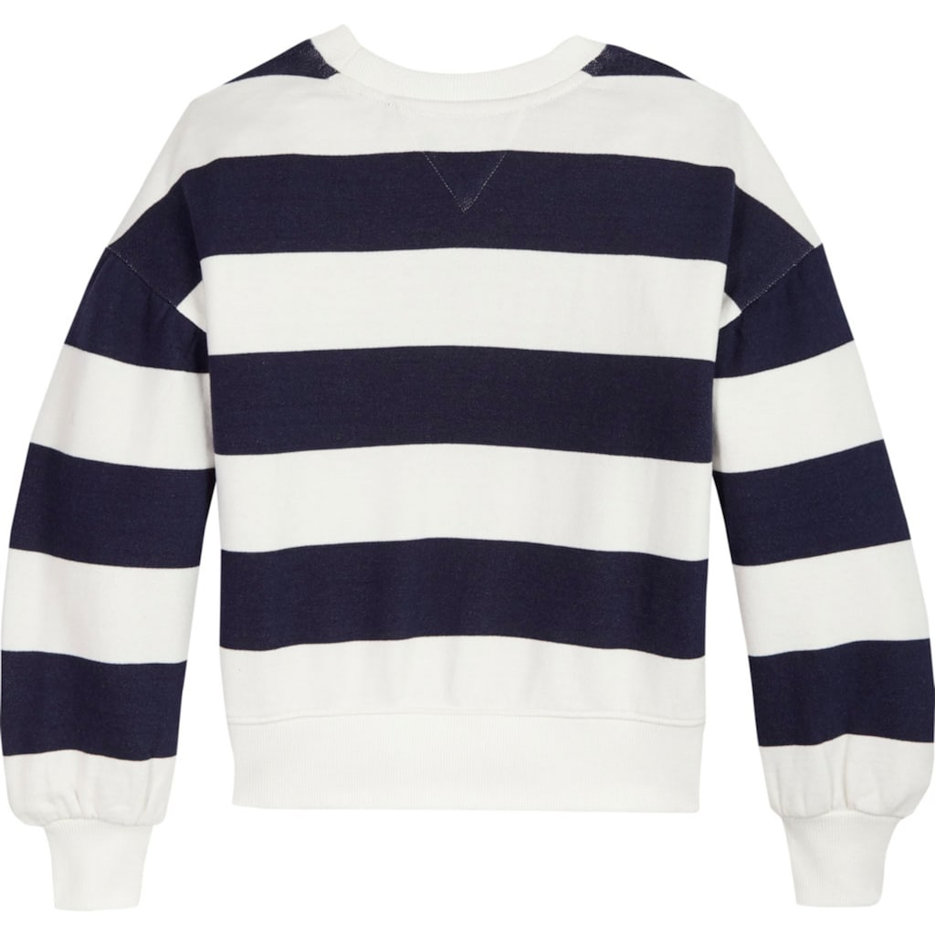 TOMMY HILFIGER Sweatshirt, in gestreifter Optik