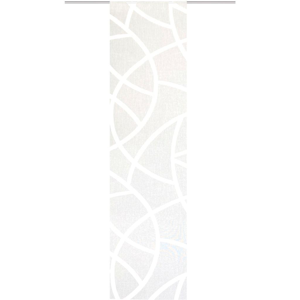 HOME WOHNIDEEN Schiebegardine »CASSÉ«, Dekostoff, mit transparentem Scherli
