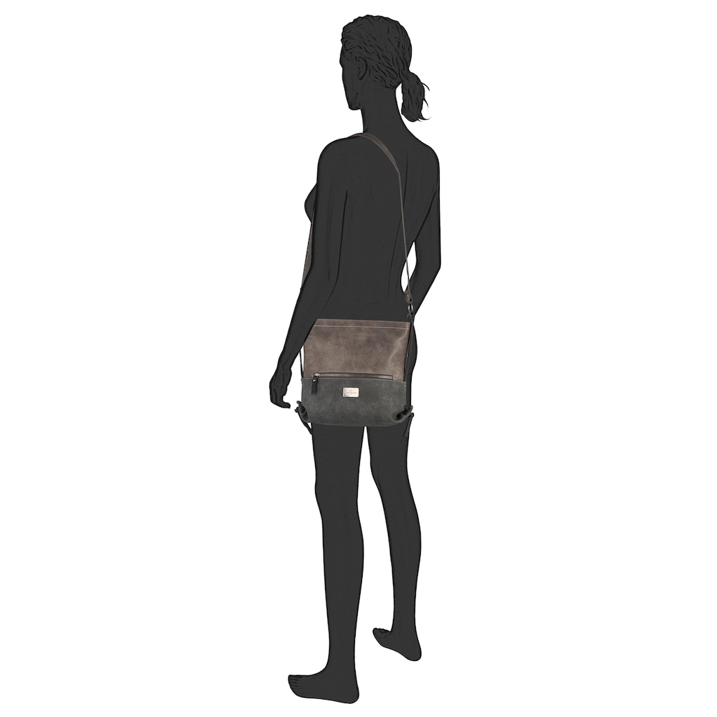 TOM TAILOR Umhängetasche »ELIN«, mit seitlichen Zierbändern