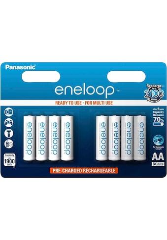 Panasonic wiederaufladbare Batterien »eneloop, AA Akku, BK3MCCE8BE«, (8 St.) kaufen