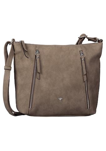 TOM TAILOR Umhängetasche »Carol«, mit trendigen Reißverschluss-Taschen kaufen