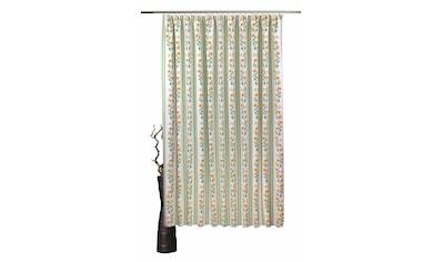 VHG Vorhang nach Maß »Fanny«, Leinenoptik, Blume, Streifen, Breite 150 cm kaufen