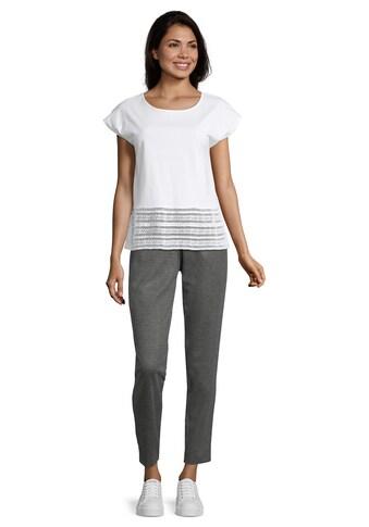 Betty&Co Kurzarm - Shirt »mit Spitzenkante« kaufen