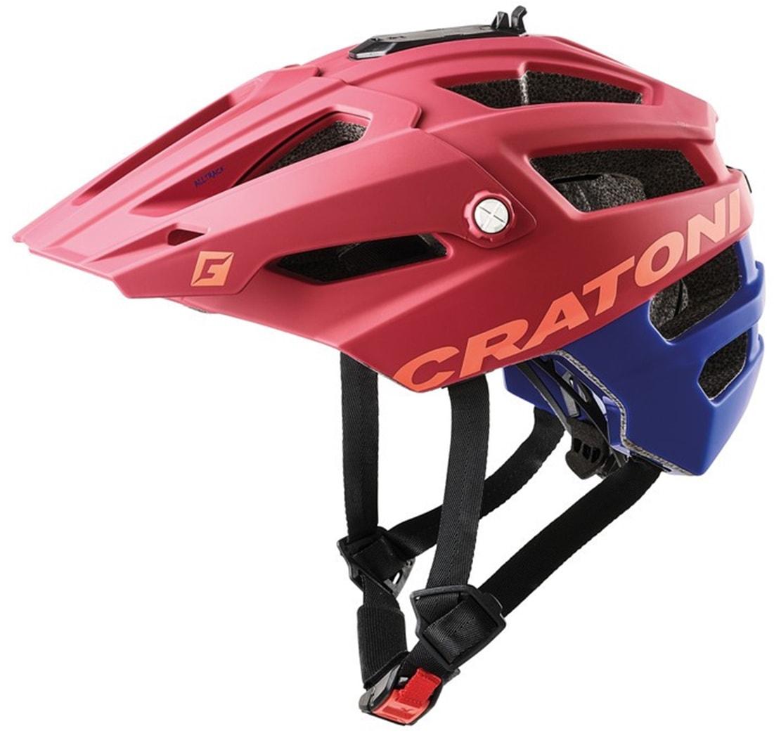 Cratoni Mountainbikehelm MTB-Fahrradhelm AllTrack, Reflektoren, dreifache Höhenverstellung rot Rad-Ausrüstung Radsport Sportarten