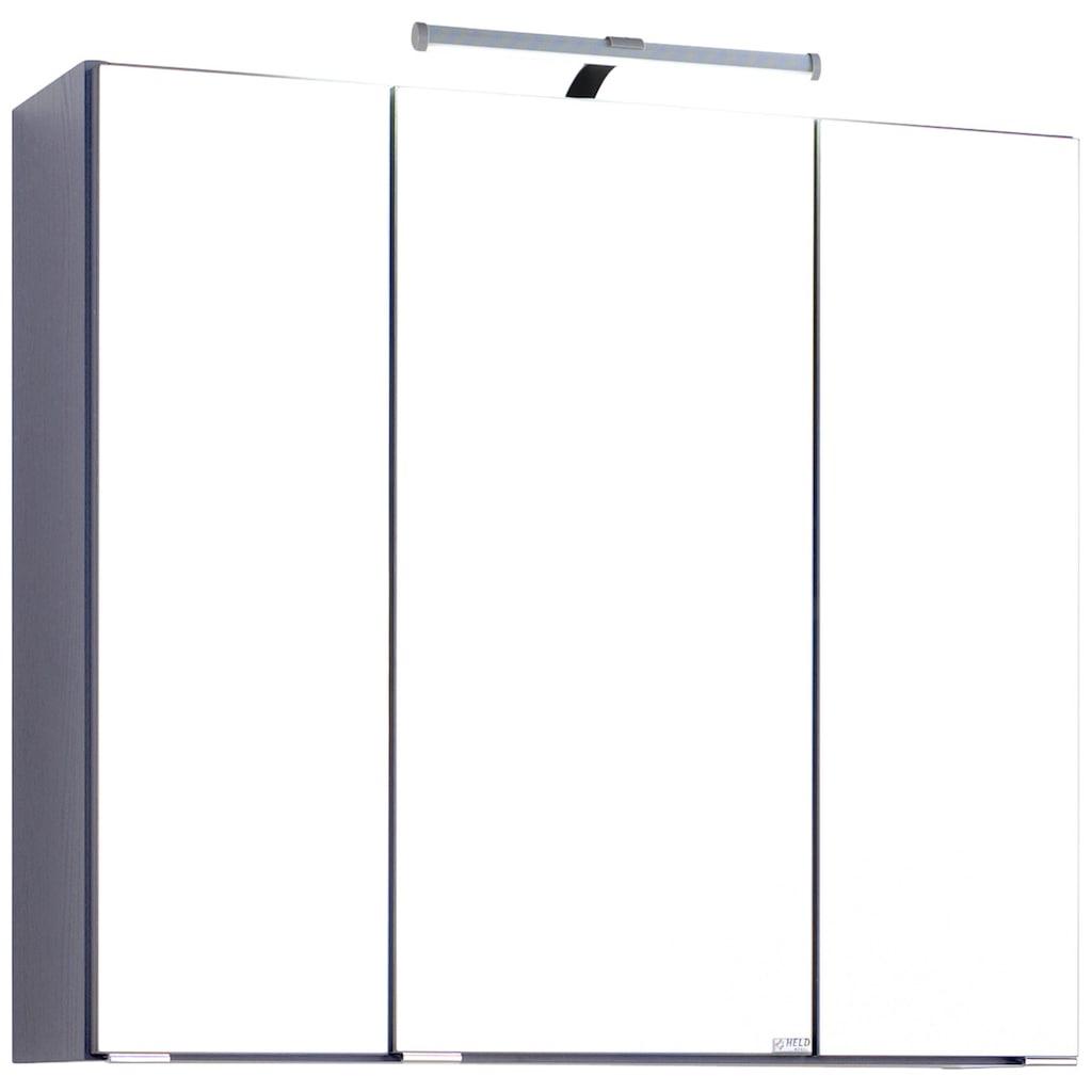 HELD MÖBEL Spiegelschrank »Texas«, Breite 70 cm, mit LED-Aufbauleuchte