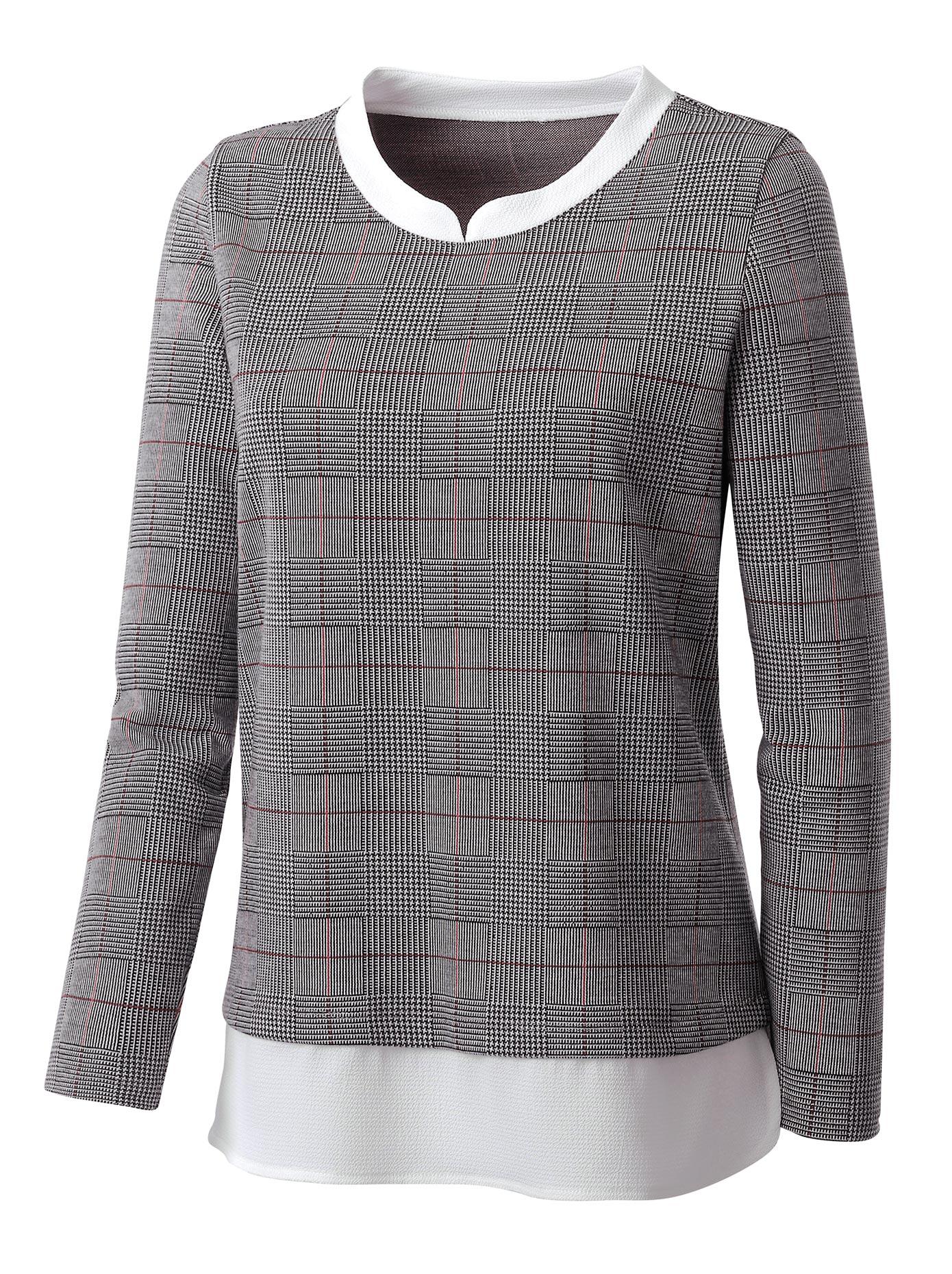 Inspirationen 2-in-1-Shirt mit gewebten Einsatz   Bekleidung > Shirts > 2-in-1 Shirts   Inspirationen