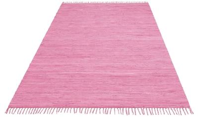 Lüttenhütt Teppich »Paul«, rechteckig, 5 mm Höhe, handgewebt, beidseitig verwendbar,... kaufen