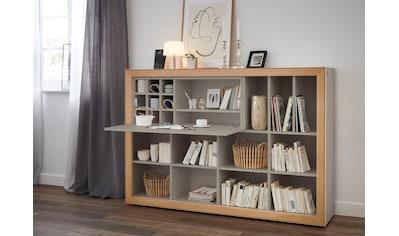 SCHÖNER WOHNEN-Kollektion Regalelement »DIMARO«, mit Schreibtischklappe und 13... kaufen