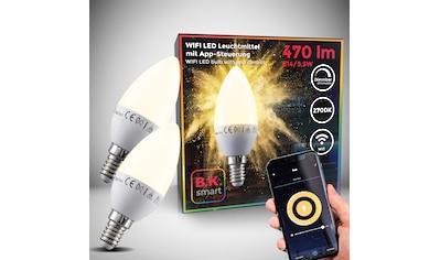 B.K.Licht LED-Leuchtmittel, E14, 2 St., Warmweiß, Smart Home LED-Lampe RGB WiFi... kaufen