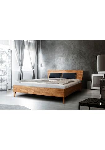 Home affaire Massivholzbett »Scandi«, aus massivem Eichenholz, mit Holzfüßen, in zwei verschiedenen Größen erhältlich kaufen