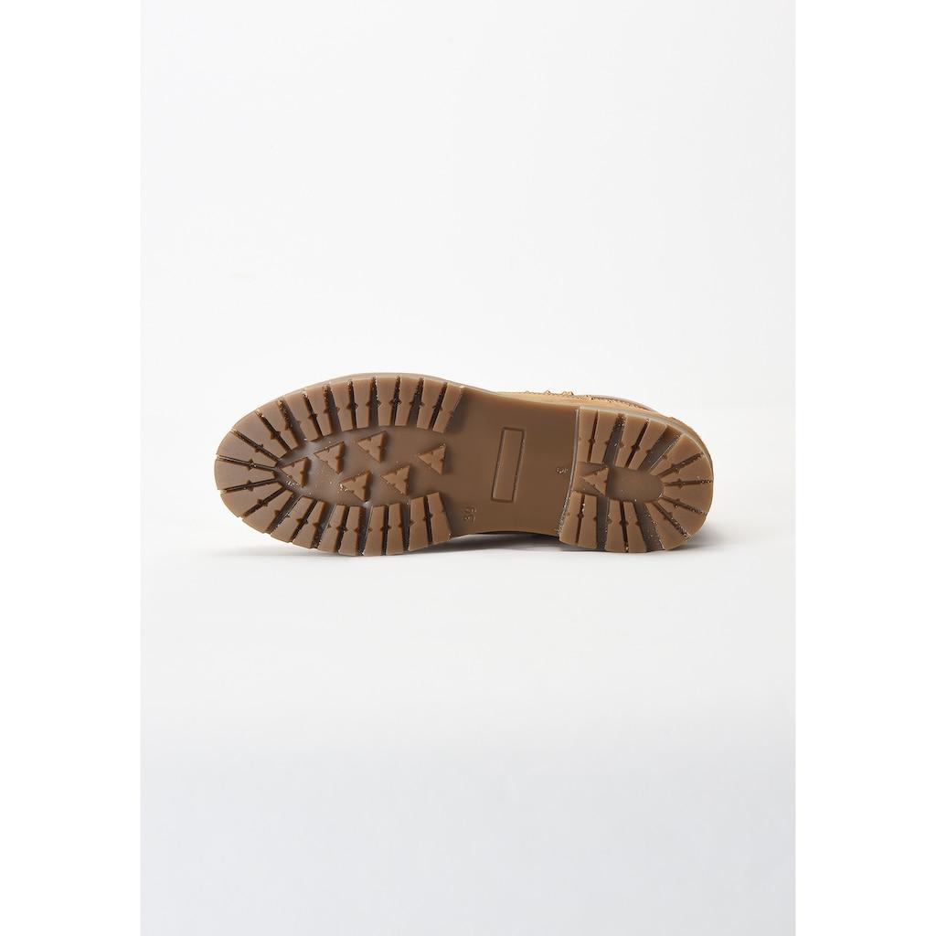 INUOVO Schnürstiefelette »Nubukleder«