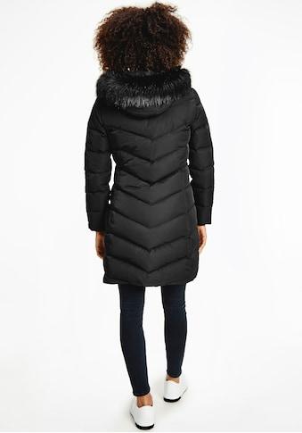 Calvin Klein Jeans Daunenmantel »LONG FITTED DOWN PUFFER«, mit Fellimitat an der... kaufen