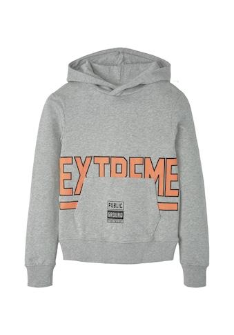 TOM TAILOR Sweatshirt »Hoodie mit Schrift - Print« kaufen