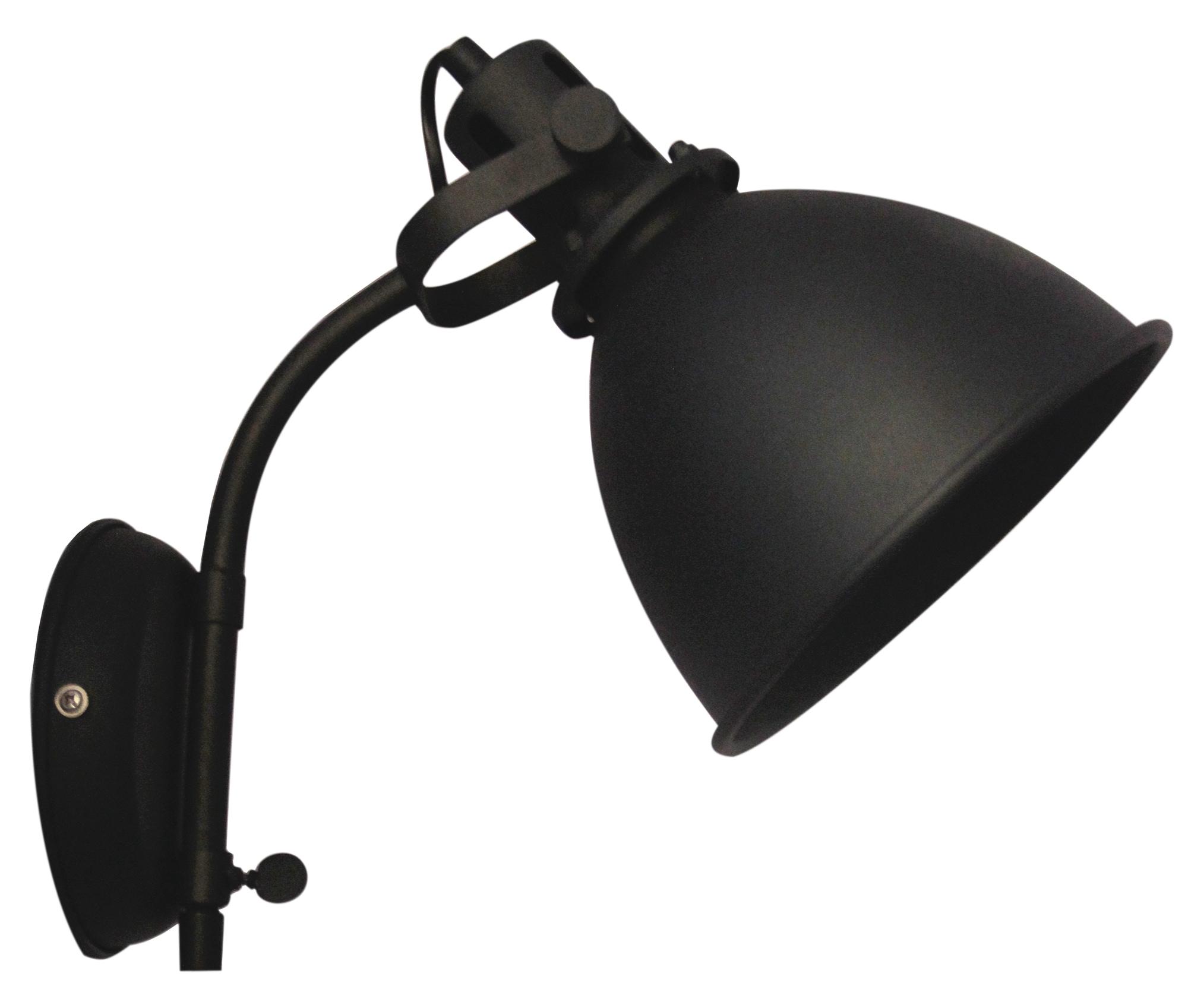 Brilliant Leuchten Jesper Wandspot Zuleitung Schalter schwarz korund