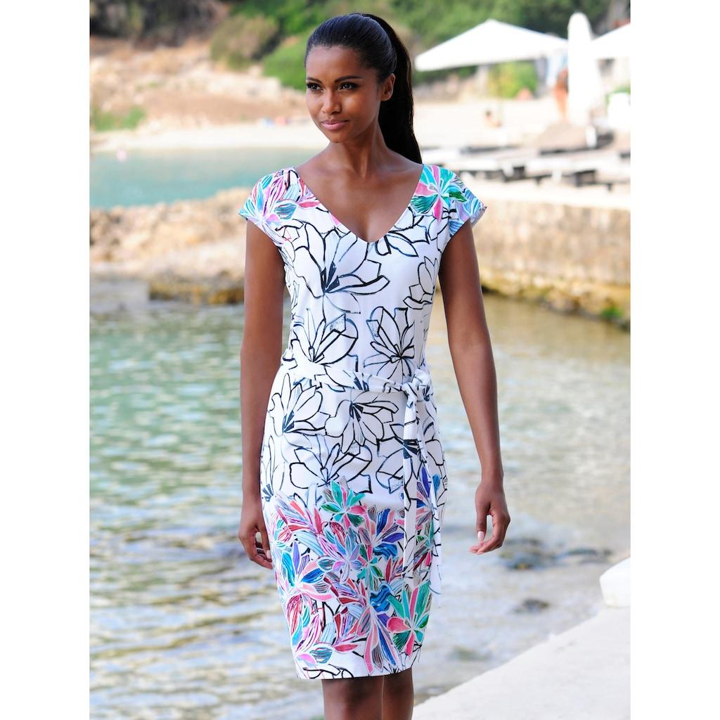 Alba Moda Strandkleid mit Bindegürtel