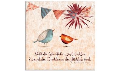 Artland Glasbild »Lebensweisheit Glücklich«, Tiere, (1 St.) kaufen