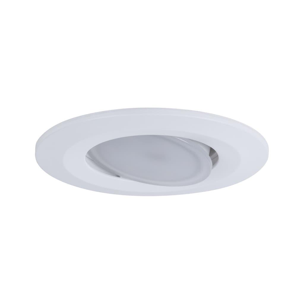 Paulmann LED Einbaustrahler »schwenkbar Calla rund 3x5,5W Weiß matt Whiteswitch«, 3 St., Tageslichtweiß