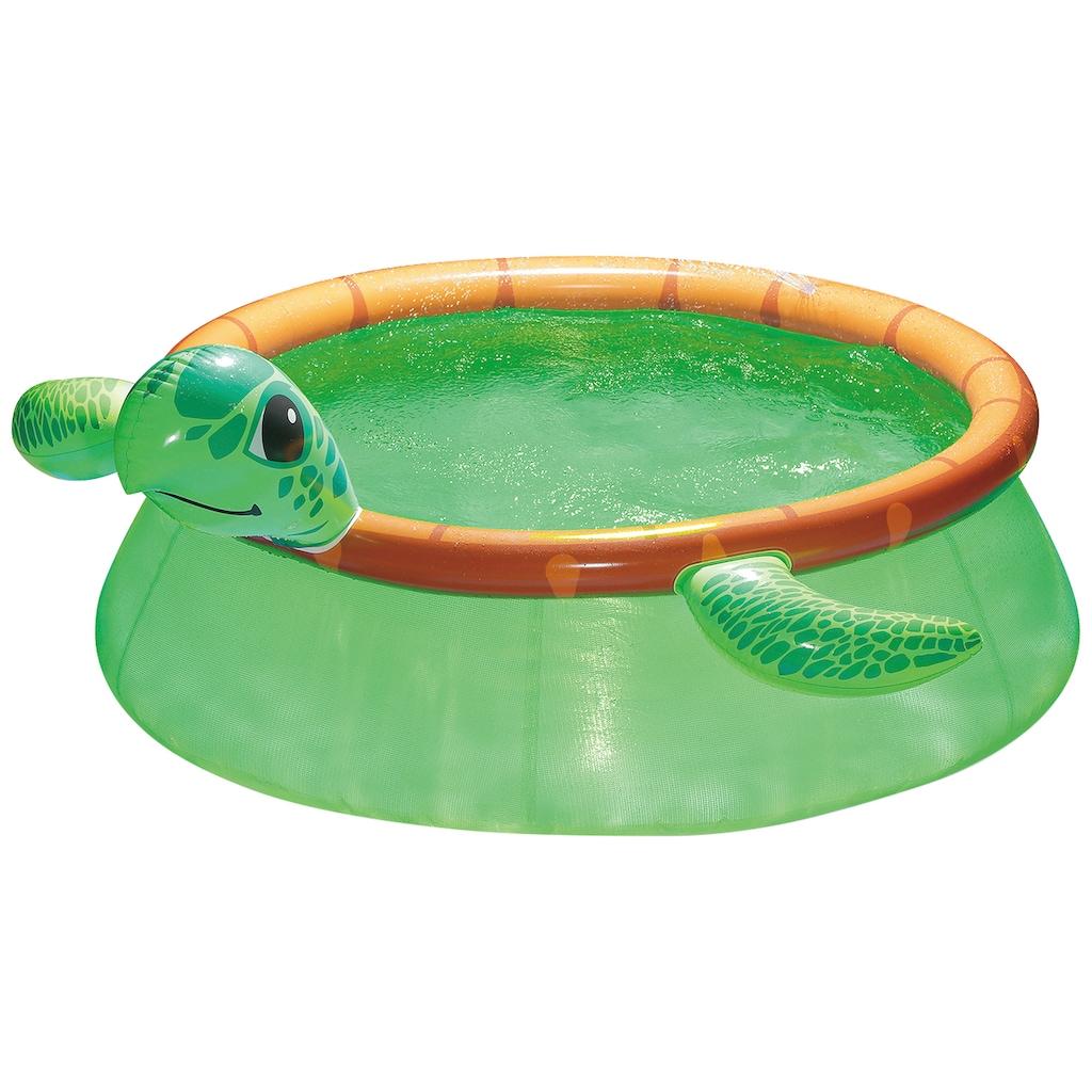 SummerWaves Rundpool »Schildkröte«, ØxH: 183x51 cm, mit Fontänenfunktion