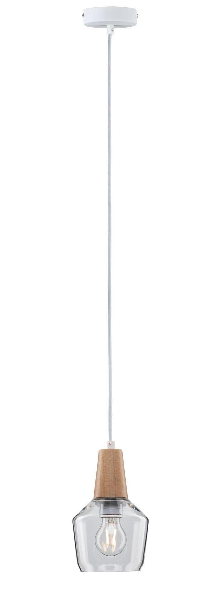 Paulmann,LED Pendelleuchte Neordic Yva Glas/Holz max. 20W E27