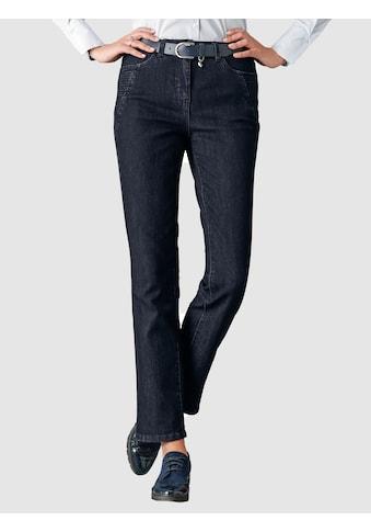 Mona Jeans mit Ziersteppungen kaufen