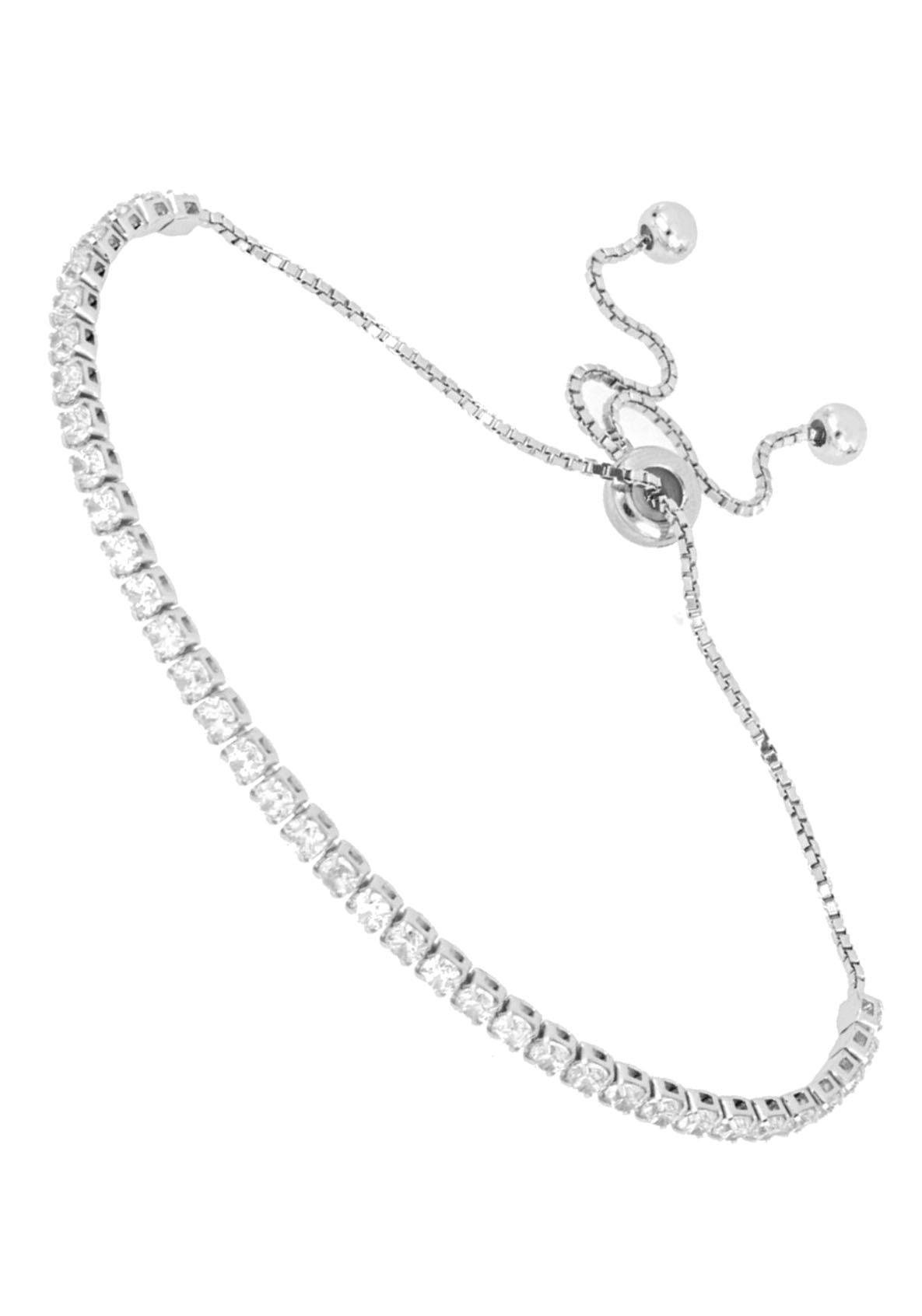 Firetti Tennisarmband schlicht und mit eingefasstem Zwischenelement, hochglanzpoliert, rhodiniert   Schmuck > Armbänder   Firetti