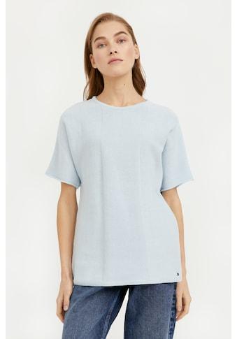 Finn Flare T-Shirt, mit schönem Strickmuster kaufen