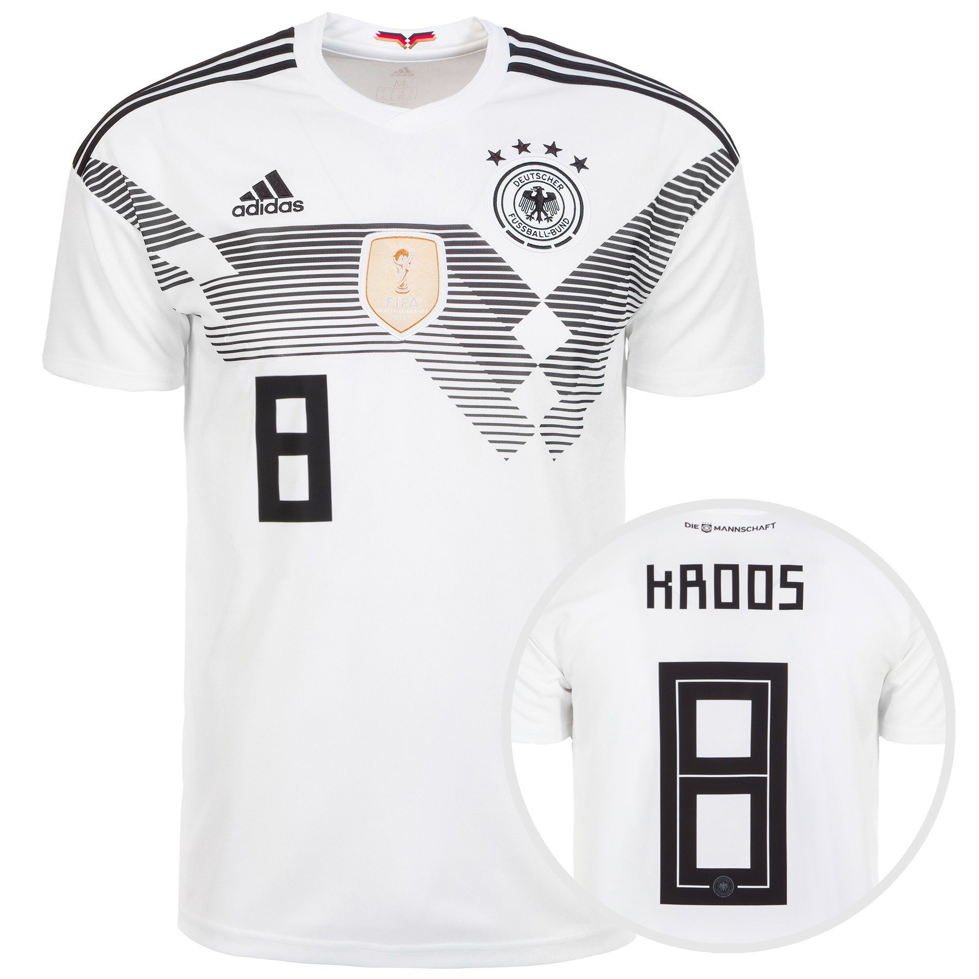 adidas Performance Fußballtrikot Dfb Trikot Kroos Wm 2018 Heim | Sportbekleidung > Trikots > Fußballtrikots | Weiß | Trikot - Wm | Adidas Performance