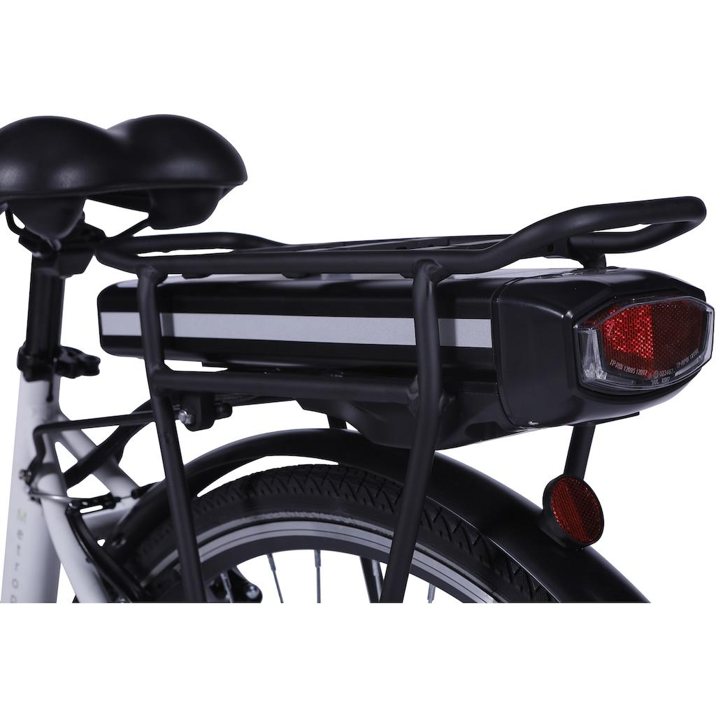 LLobe E-Bike »Metropolitan JOY weiß 10 Ah«, 3 Gang, Frontmotor 250 W