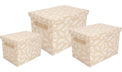 Franz Müller Flechtwaren Aufbewahrungsbox »TexBox« (Set, 3 Stück) kaufen
