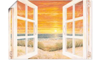 Artland Wandbild »Fenster zum Meer«, Meer Bilder, (1 St.), in vielen Größen &... kaufen