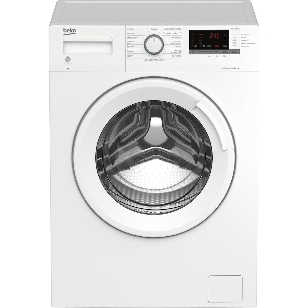 BEKO Waschmaschine »WML7163O4LP«, WML7163O4LP1