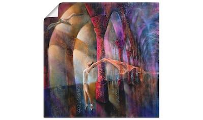 Artland Wandbild »Möwe und Tänzerin«, Frau, (1 St.), in vielen Größen & Produktarten - Alubild / Outdoorbild für den Außenbereich, Leinwandbild, Poster, Wandaufkleber / Wandtattoo auch für Badezimmer geeignet kaufen